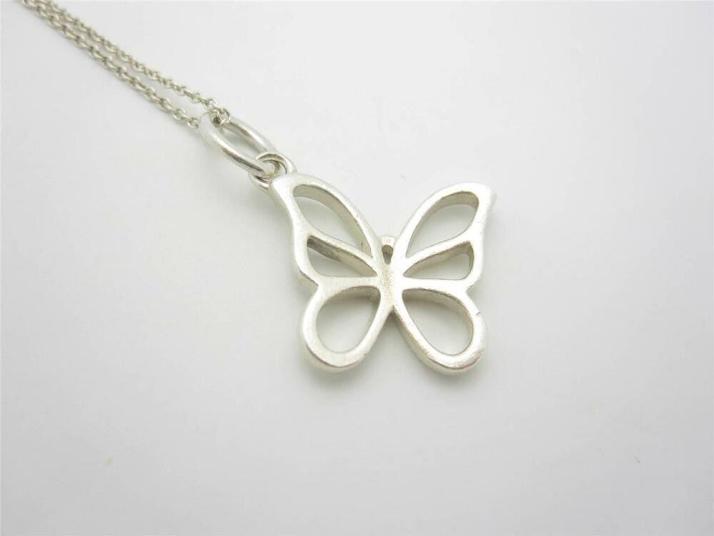 co sterling silver butterfly pendant charm