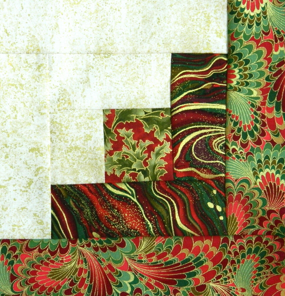 12 Log Cabin Quilt Top Block Kit Palazzo Holiday