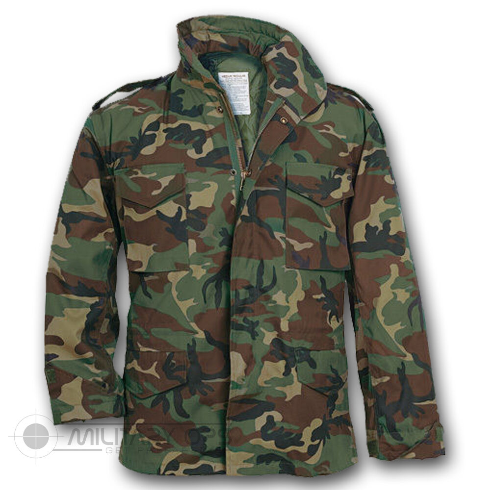 Details about US MILITARY STYLE M-65 COMBAT FIELD JACKET ARMY VIETNAM M65  WOODLAND CAMO beb9af0d99b