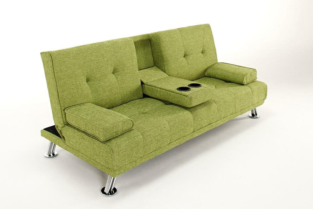 The Harlow 2 Seater Fabric Cinema Style Lounge Sofa Bed