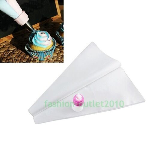 How To Use Cake Decorating Bags And Tips : Icing Two Color Bags Piping Frosting Fondant Nozzles DIY ...