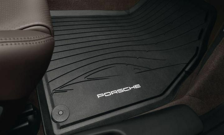 Porsche Rubber Floor Mats 981c Cayman 14 16 Set Of 2 Oem