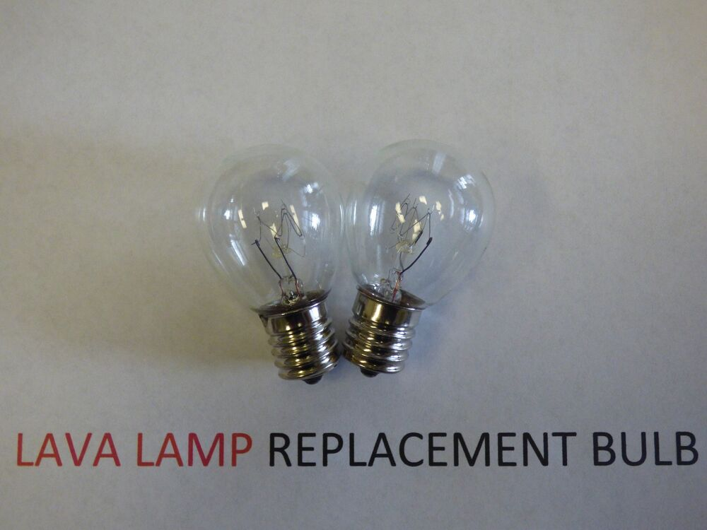2 X 25w Lava Lamp Light Bulb S Type E17 Base 25 Watt S11