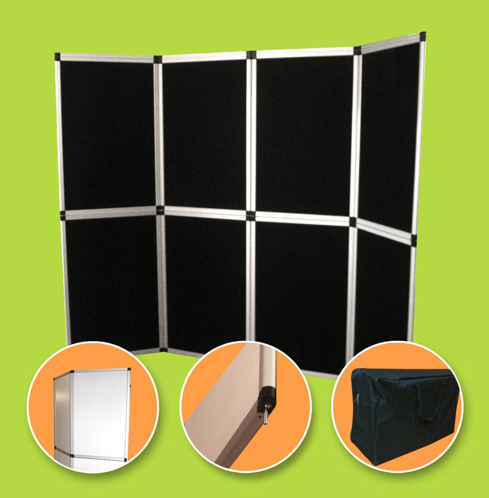 Exhibition Booth Panels : Panel folding trade show backdrop booth banner exhibit