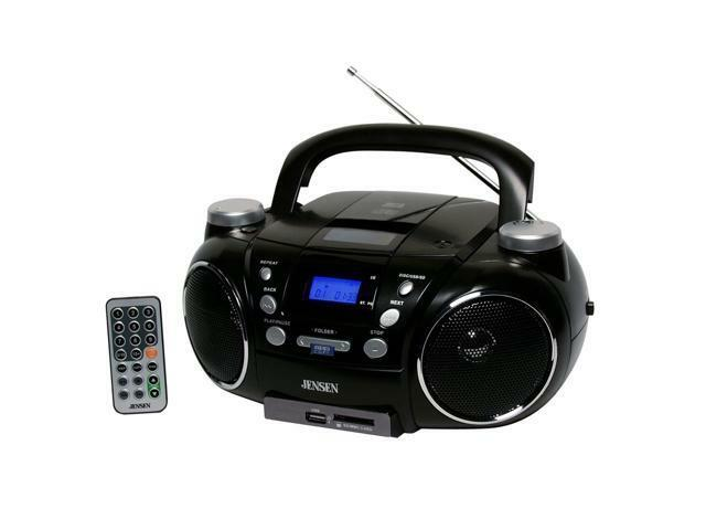 jensen cd 750 portable am fm stereo cd player with mp3 encoder player black 77283965012 ebay. Black Bedroom Furniture Sets. Home Design Ideas