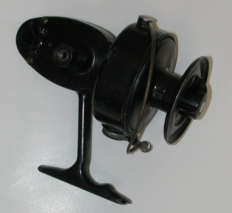 Vintage 1954 55 mitchell salt water model 302 spinning for Old mitchell fishing reels