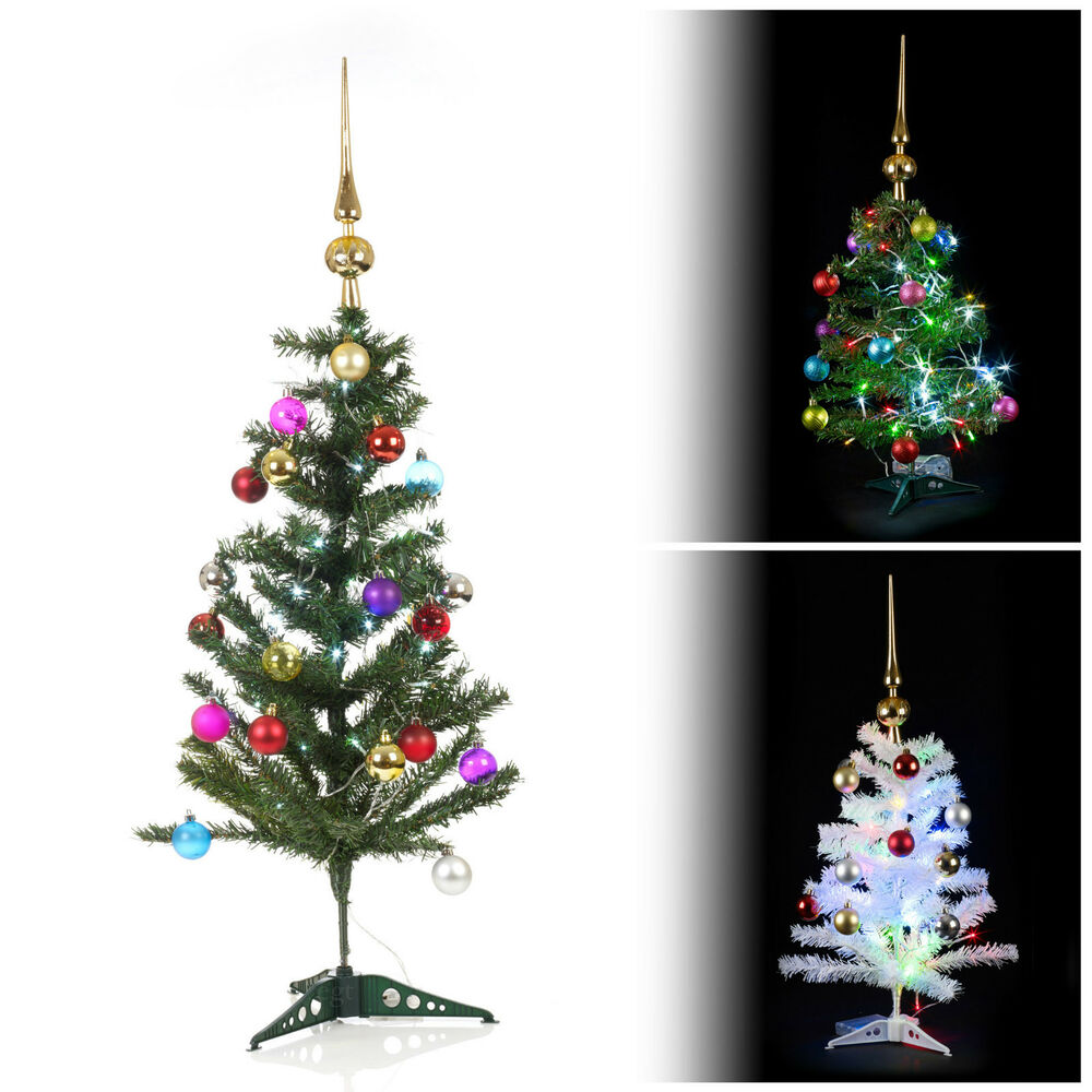 Artificial indoor christmas tree with led lights baubles for Pictures of indoor christmas decorations