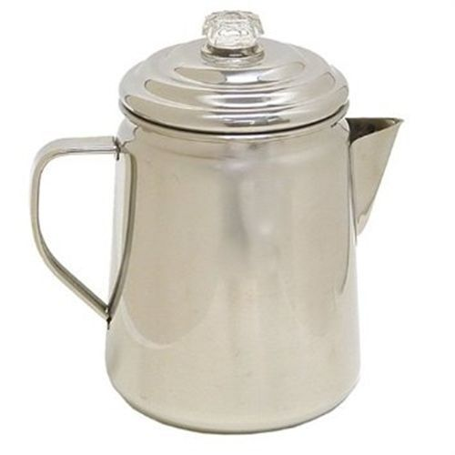 Camping Coffee Maker Percolator : Coleman 12 Cup Stainless Steel Stovetop Camping Coffee Tea Pot Percolator 76501912272 eBay