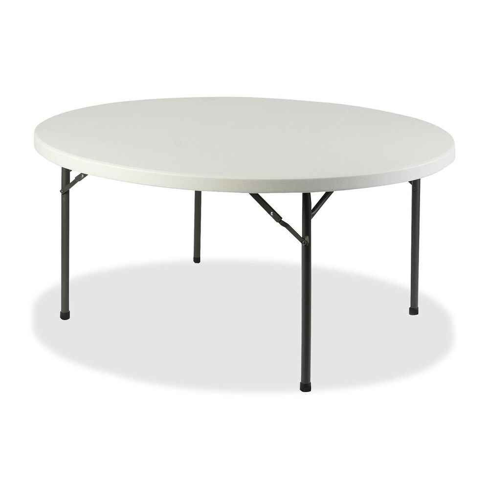 Lorell Platinum 60 Inch Round Banquet Folding Table Ebay