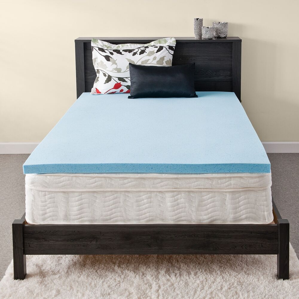 priage mygel 2 inch gel memory foam mattress topper ebay. Black Bedroom Furniture Sets. Home Design Ideas