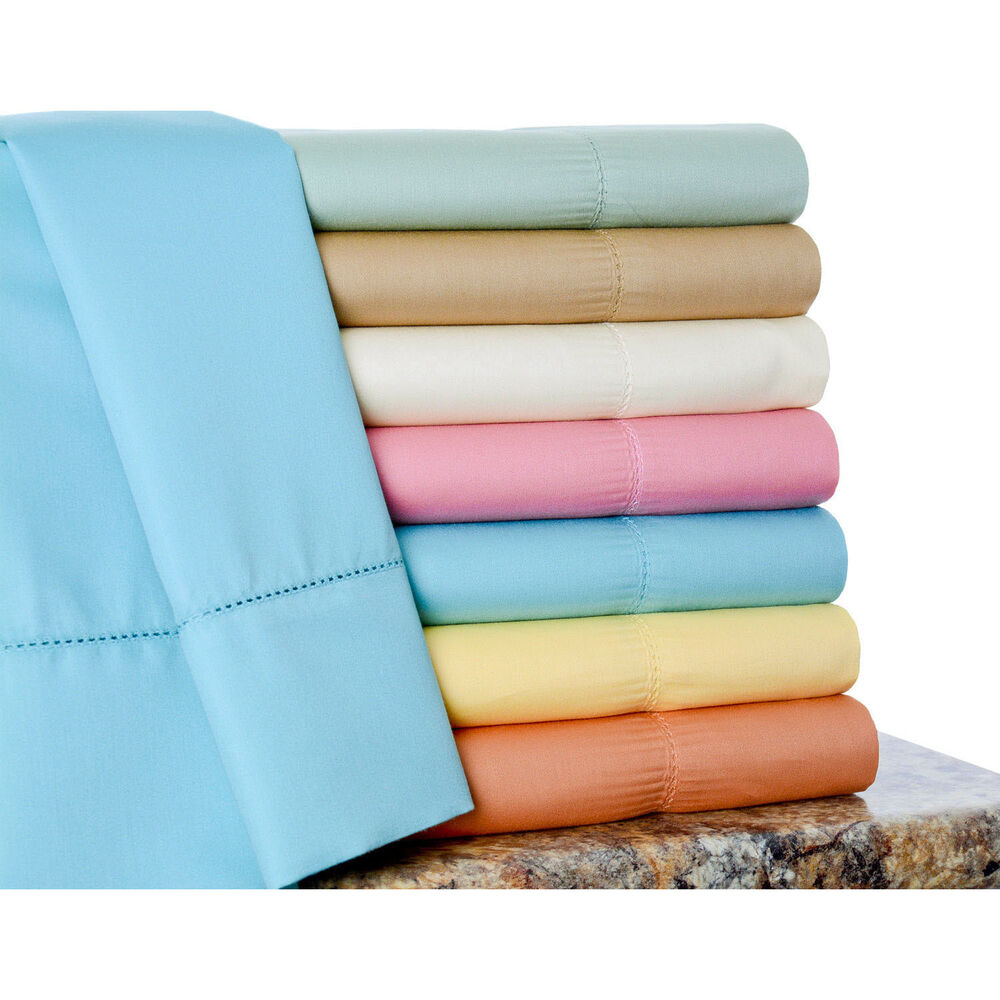 600 Thread Count Cotton Rich Sheet Set Ebay
