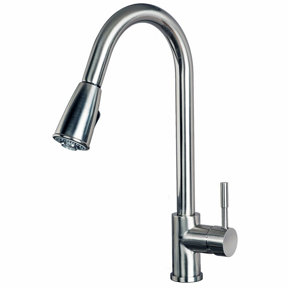 Contemporary 16 Quot Pull Down Spray Kitchen Sink Faucet