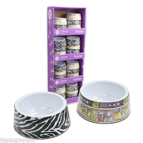 Heavy Duty Melamine Pet Food Water Dishes Bowl Set Of 2