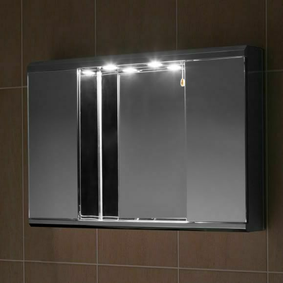 mirrored bathroom cabinet with light stainless steel bathroom cabinet mirror with lights 23382
