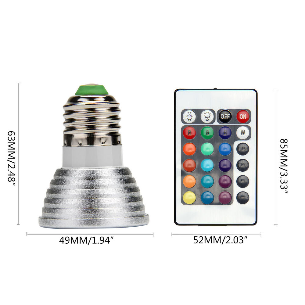 10x e27 3w rgb multicolor led 16 color changing light spotlight remote control ebay. Black Bedroom Furniture Sets. Home Design Ideas