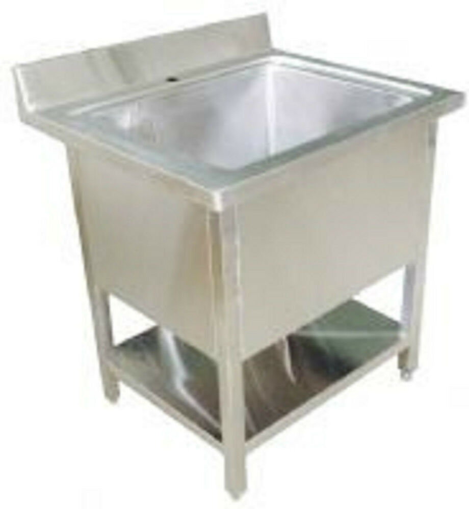 Stainless Steel Pot Wash Kitchen Sink Single / Double Bowl