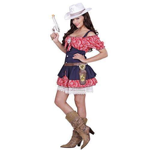 cowgirl selina damen kost m western cowboy kleid auswahlgr en s m l xl ebay. Black Bedroom Furniture Sets. Home Design Ideas