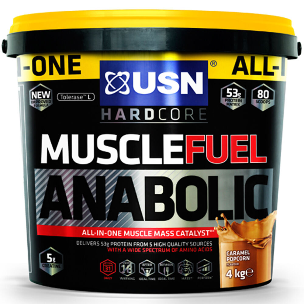 usn anabolic muscle fuel 4kg strawberry