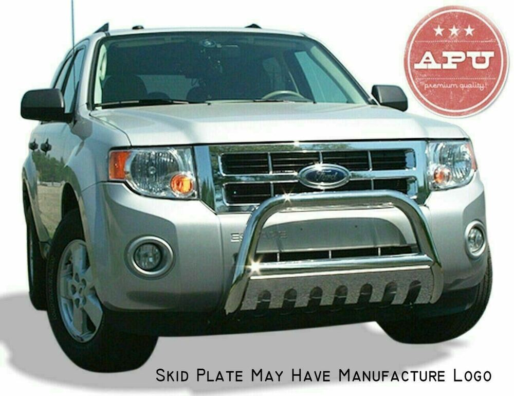 Apu 2001 2007 ford escape stainless bull bar bumper grille brush guard ebay