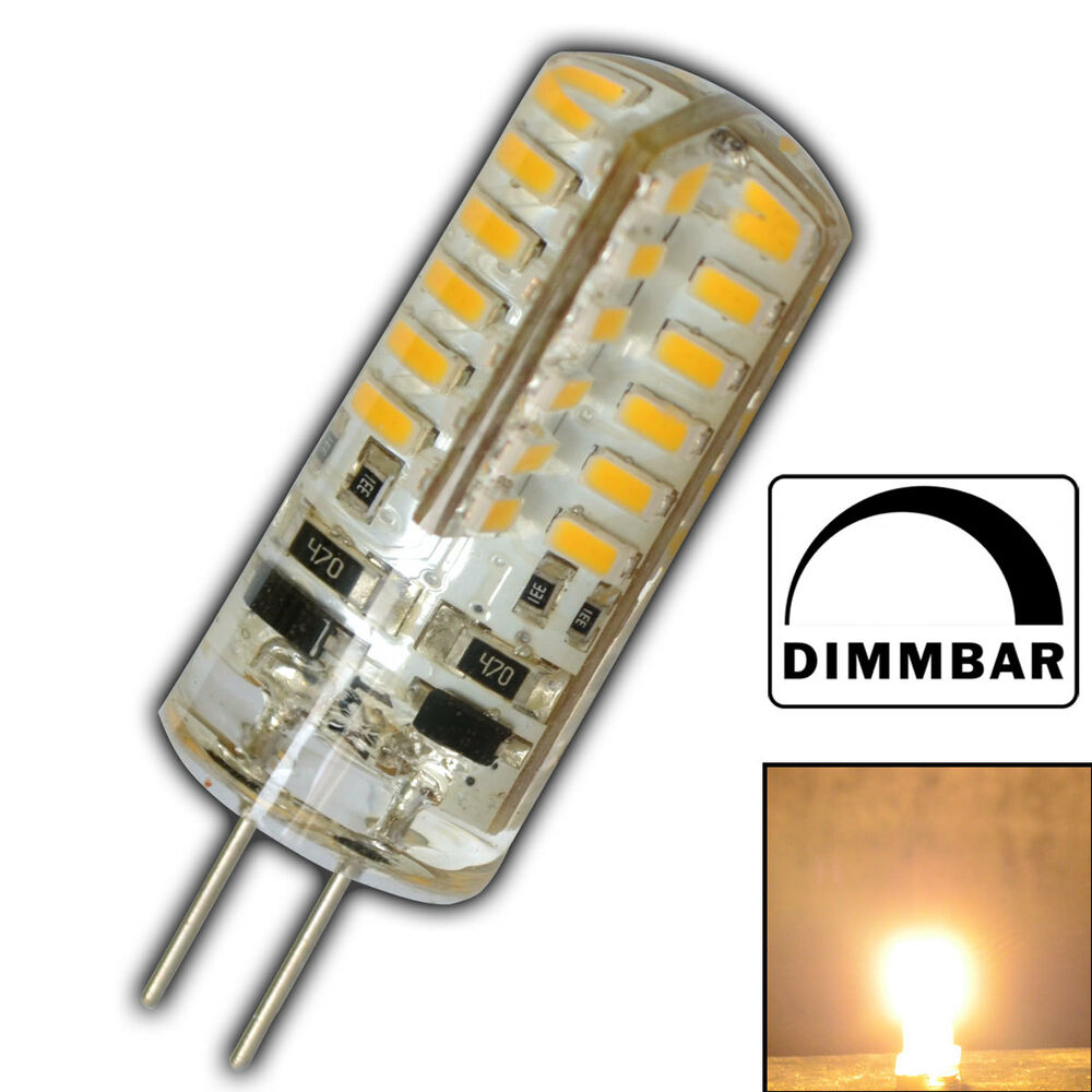 g4 led 3 watt 12v dc dimmbar warmwei 48 smd halogen lampe. Black Bedroom Furniture Sets. Home Design Ideas