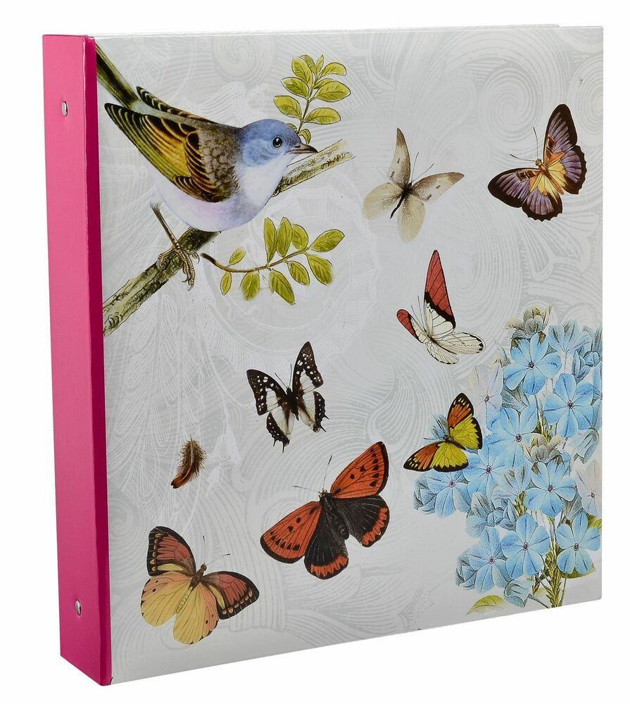 large vintage butterfly photo album hold 500 photos 6x4 39 39 slip in case bb500 ebay. Black Bedroom Furniture Sets. Home Design Ideas