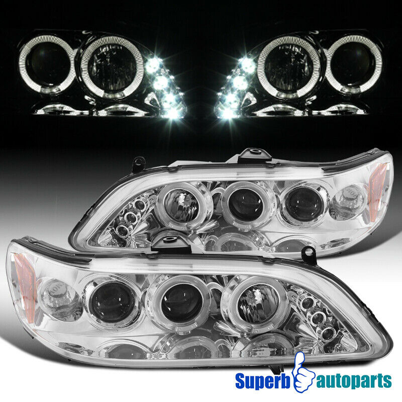 For 1998 2002 Honda Accord Led Dual Halo Projector