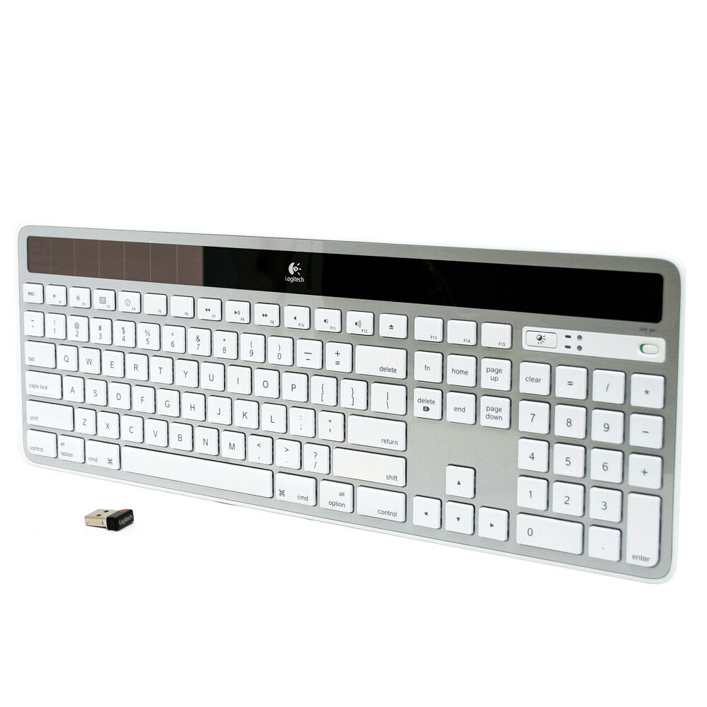 logitech k750 white wireless solar keyboard for mac white silver 97855080240 ebay. Black Bedroom Furniture Sets. Home Design Ideas