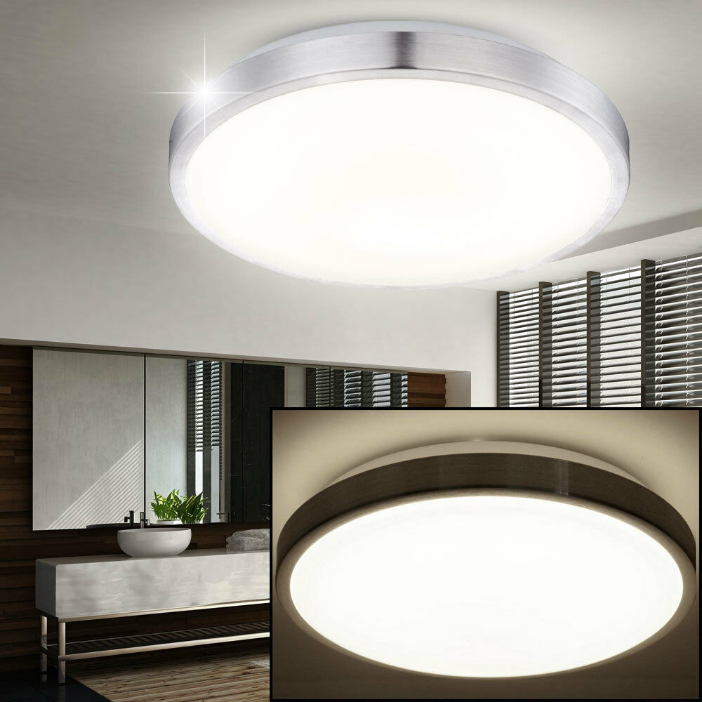 led design flur diele bad decken lampe badezimmer leuchte rund 30 cm beleuchtung ebay. Black Bedroom Furniture Sets. Home Design Ideas