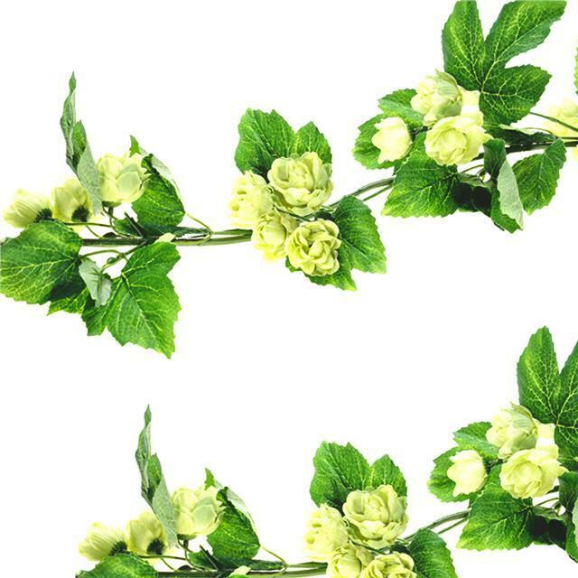 Artificial hops garland vine decorative hop for Artificial hops decoration