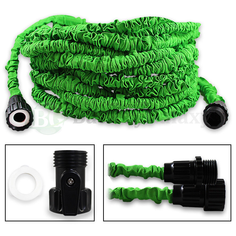 100 feet 100ft expandable flexible garden lawn water hose nozzle green 200 sold ebay Expandable garden hose 100 ft