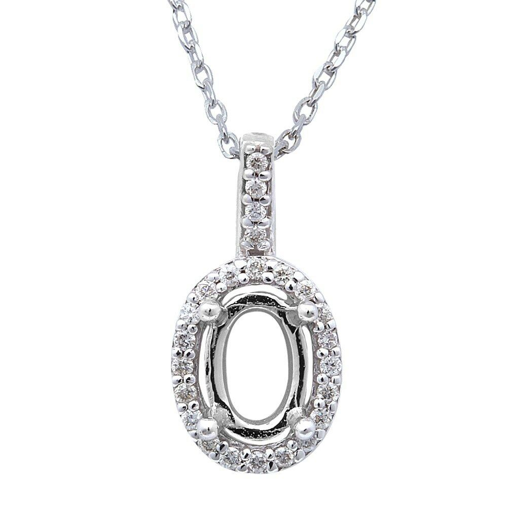 10ct oval halo diamond solitaire pendant necklace 14kt. Black Bedroom Furniture Sets. Home Design Ideas