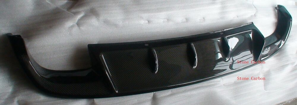 carbon fiber rear diffuser lip spoiler valance for vw mk6. Black Bedroom Furniture Sets. Home Design Ideas
