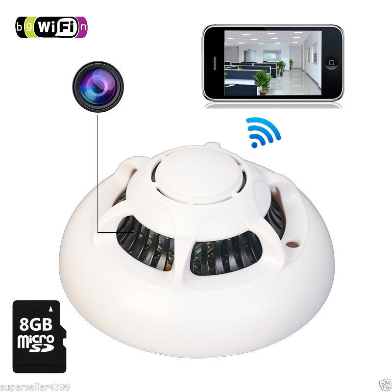 spy smoke detector wifi camera wireless ip camera hidden nanny cam video p2p ebay. Black Bedroom Furniture Sets. Home Design Ideas