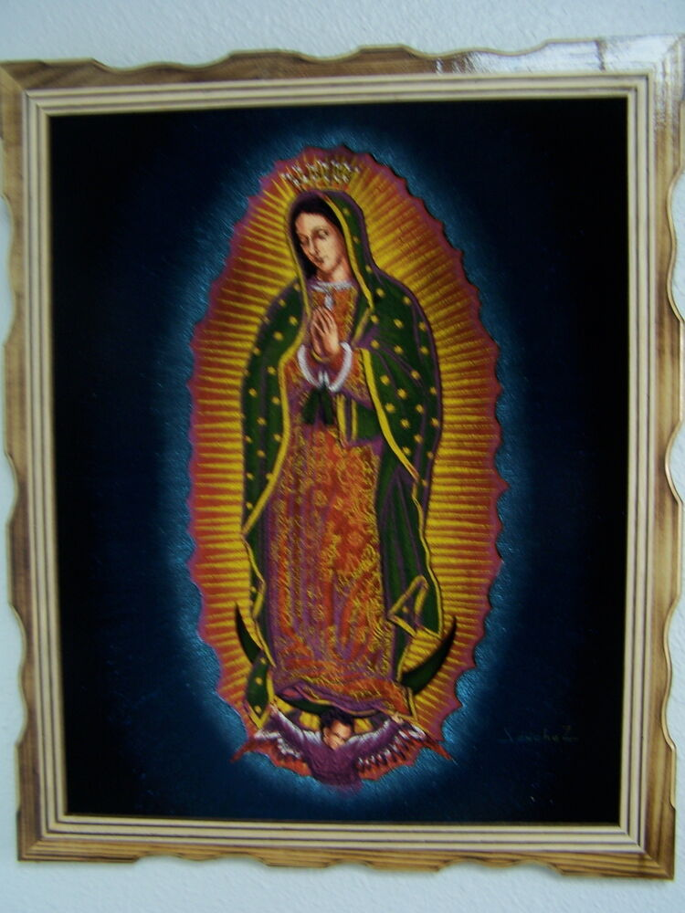 18 x 22 hand painted velvet painting virgen de guadalupe for Buy mural paintings
