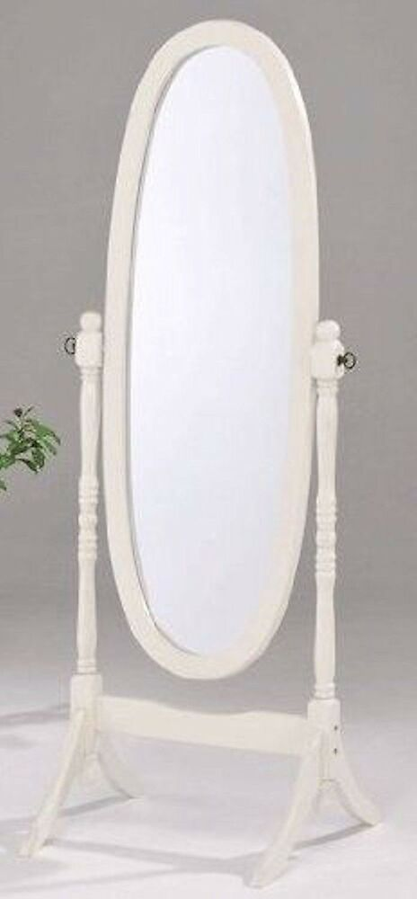swivel full length wood cheval floor mirror white black