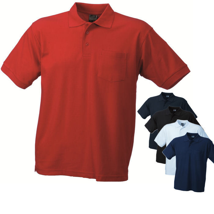nicholson herren kurzarm polo mit brusttasche t shirt s xxxl ebay. Black Bedroom Furniture Sets. Home Design Ideas