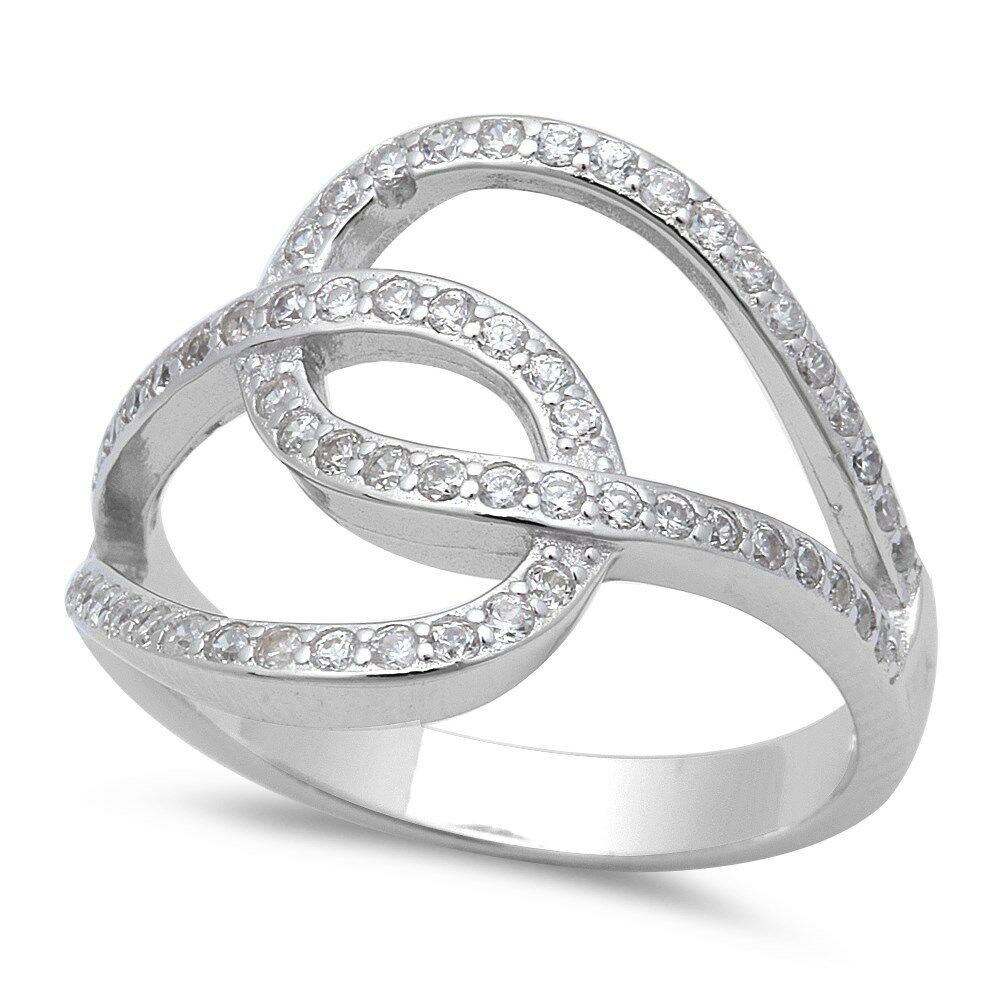 infinity loop modern fashion 925 sterling silver ring