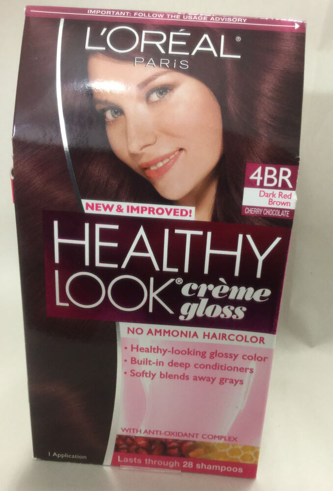 L Oreal Healthy Look Creme Gloss Hair Color Dark Red Brown