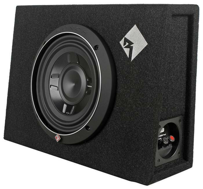 new rockford fosgate p3s 1x8 8 quot subwoofer shallow enclosure free ship nr ebay