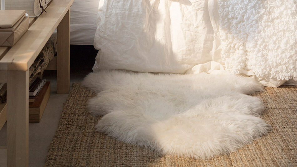 Ikea Rens 100 Genuine Sheepskin Rug 30x16 034 White Ivory