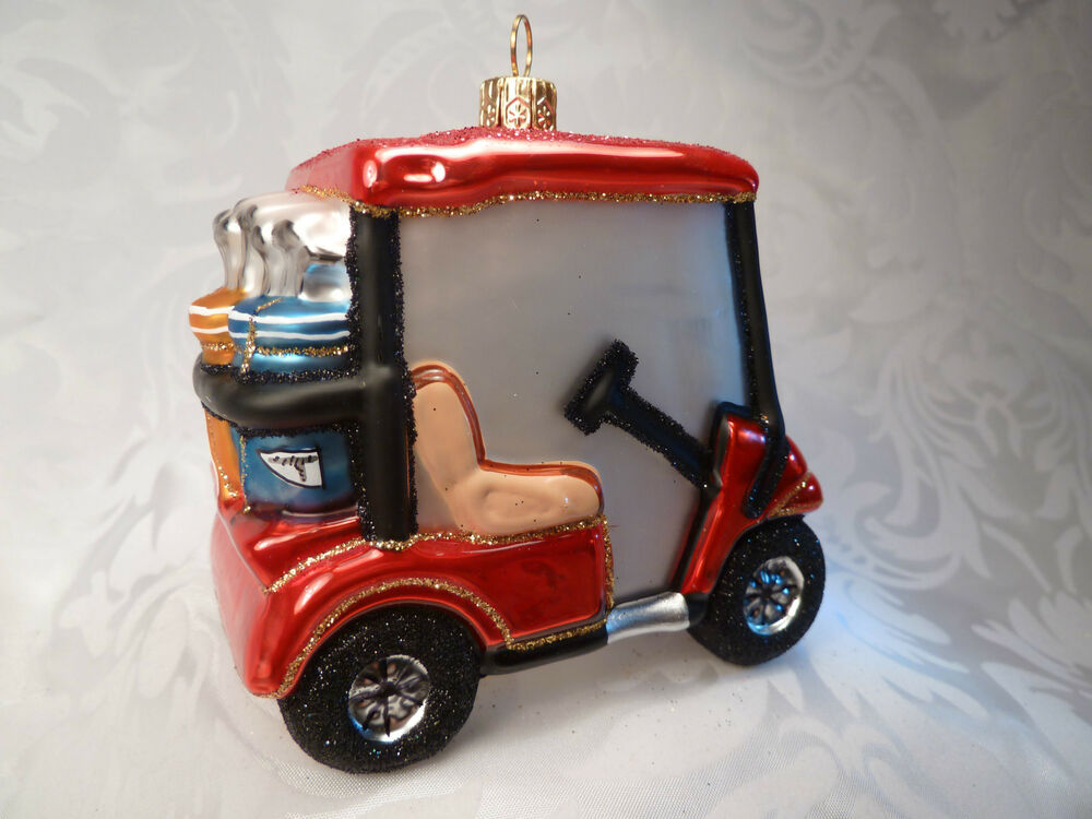golf car golftasche christbaumschmuck christbaumkugel geschenk gutschein ebay. Black Bedroom Furniture Sets. Home Design Ideas