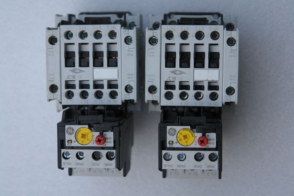 Springer Contactor Jc18a310t  Ge Rt1n Overload Relay  U0026 Bcll11 Auxiliary Contact