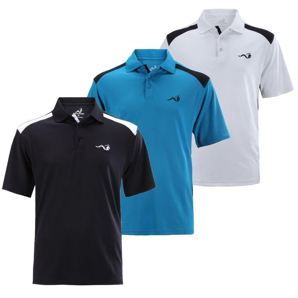 woodworm tour performance v 2 mens golf polo shirts 3 pack