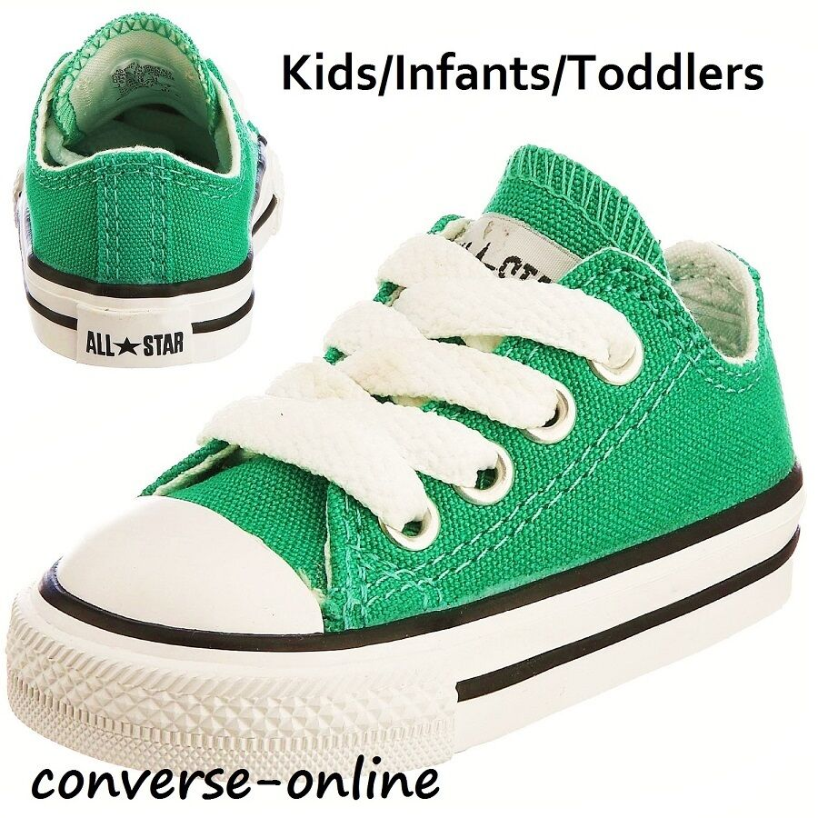 Kids Baby Boys Girls Converse All Star Emerald Green