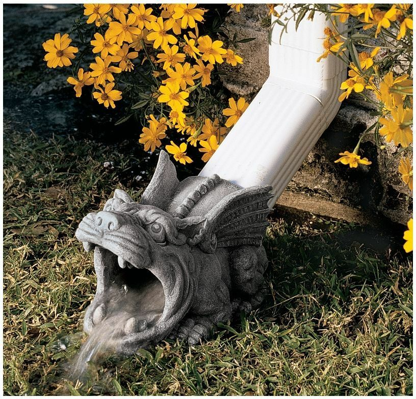 """10.5"""" Outdoor Home Decor Medieval Gothic Wide Mouth"""