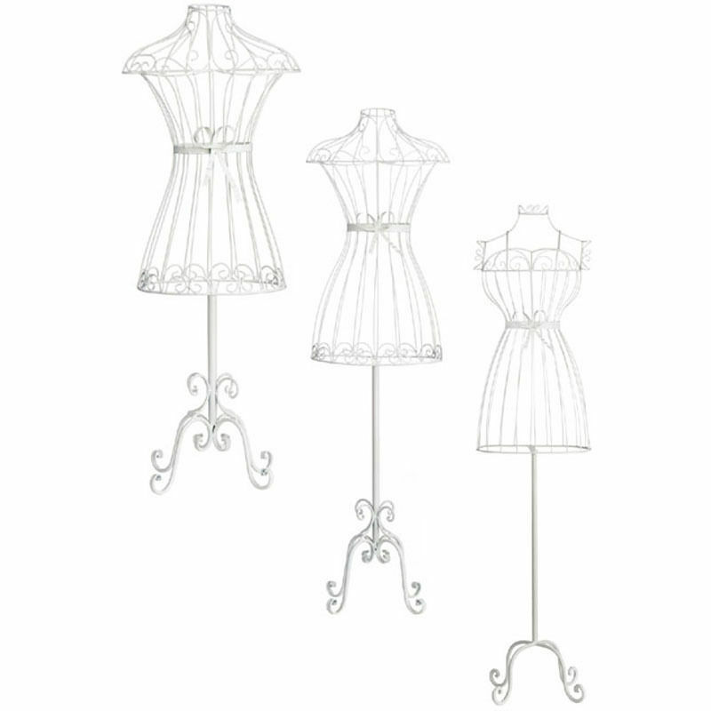 Mannequin Clothes Body Stand Cream Wire Bedroom Retail Display In 3 ...