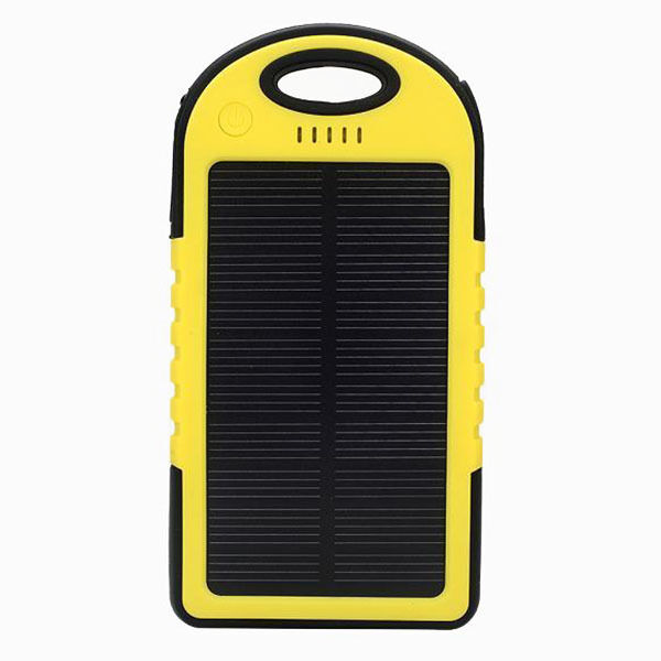 5000mAh Solar Power Bank Battery Charger for iPhone 6 Plus Samsung S5 ...