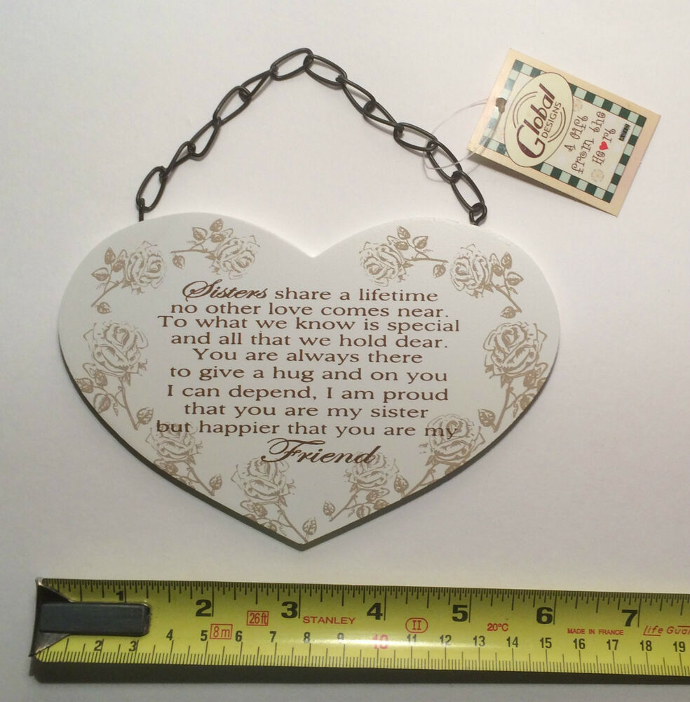 Gift Ideas For Your Sister On Her Wedding Day : Sisters Poem Plaque Sign Birthday Gift Ideas for Her F1214E eBay