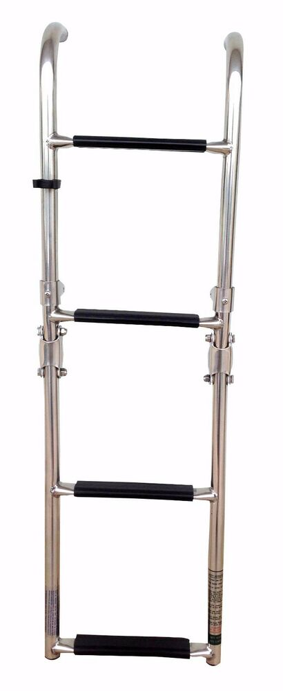 Marine Boat Foldable Stainless Steel 4 Steps Ladders