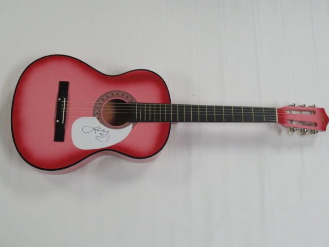 LINDSAY ELL SIGNED HOT PINK ACOUSTIC GUITAR COUNTRY ...